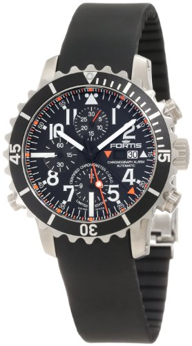 Fortis Men's 673.10.41K B-42 Marinemaster Automatic Chronograph Black Dial Watch