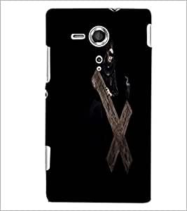PrintDhaba Cross D-2136 Back Case Cover for SONY XPERIA SP (Multi-Coloured)