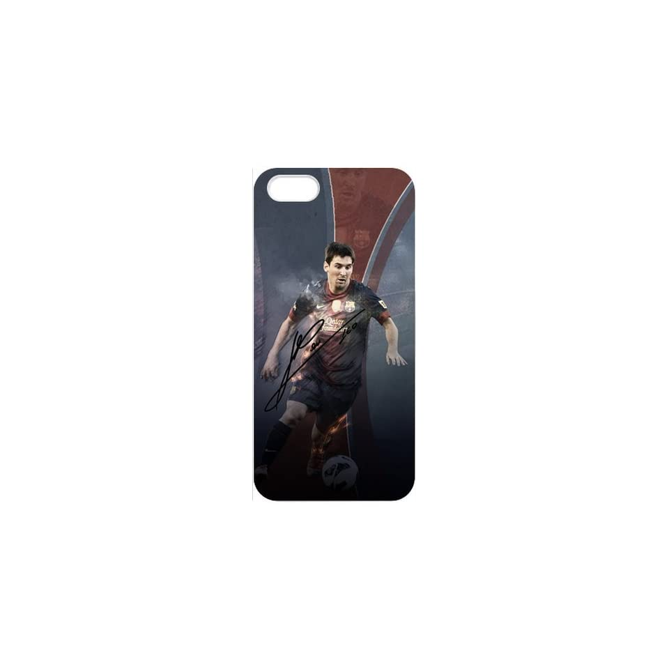 Barcelona Messi Designed to Protect Apple iPhone 5   Case Cover   Popular Barcelona Soccer Futsal FC Messi Cell Phones & Accessories