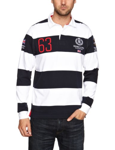 Henri Lloyd GB RWR Stripe Rugby Men's Jumper French Navy Small