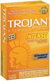 Trojan Stimulations Intense Ribbed Ultrasmooth Lubricated Latex Condoms-12 ct (Quantity of 3)