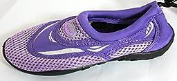 Girl\'s Aqua Water Shoes Socks (11, Purple)