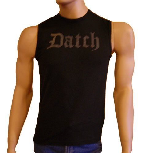 Datch. Mens Black Vest Sleeveless T Shirt Size S/UK 38