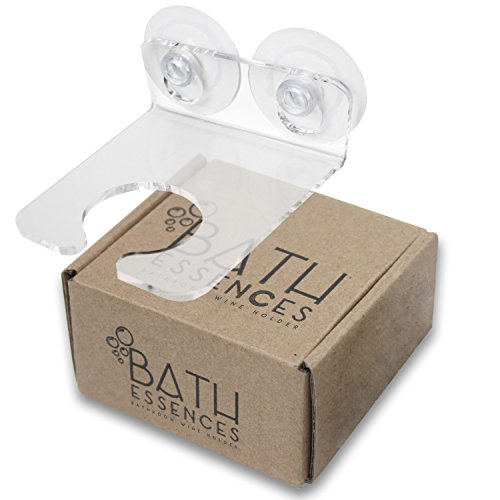 Bathtub & Shower Wine Glass Holder by Bath Essences - Pamper Yourself Now! (Wine In The Shower compare prices)