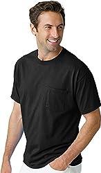 Hanes Tagless 100% ComfortSoft Cotton T-Shirt with Pocket 5590