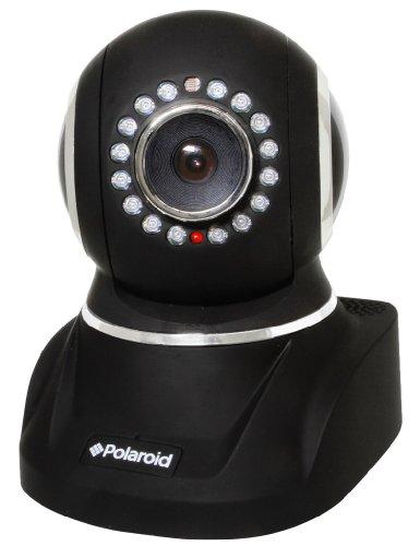 Polaroid IP300B wireless IP Network Security Camera, Pan and Tilt, IR-cut Filter, Black - 9 Pack