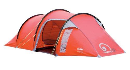 Gelert Twister Three Man Tent - Rococco Red/Paloma Grey
