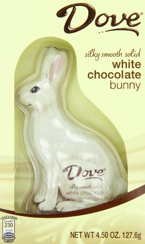 Dove Chocolate Bunny, Silky Smooth White, 4.5
