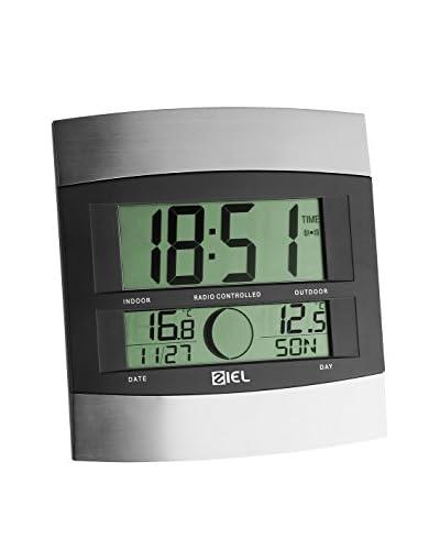 Ziel Orologio Da Muro Thermometer 140500 Nero/Argentato