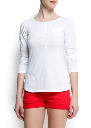 Topsandteesy find and buy best tops and tees for Women s cotton henley shirts