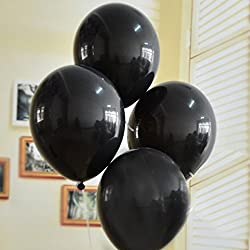 GrandShop 50258 Balloons Solid Black (Pack of 50)
