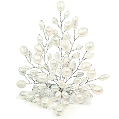 Fresh Water Pearl Brooch Pin - White