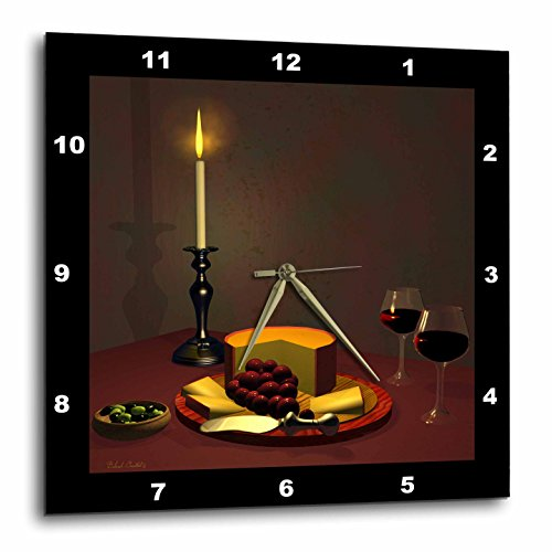 Dream Essence Designs This 3D Artwork Features Aged Cheese and Fine Wine Wall Clock, 10 By 10-Inch (Cheese Wall Art compare prices)