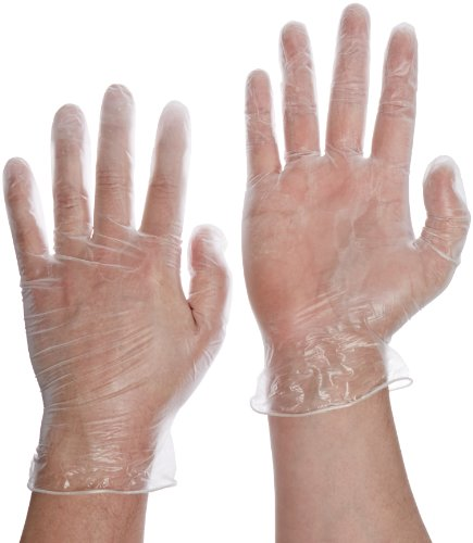 disposable vinyl gloves powdered clear latex free and