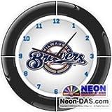 Milwaukee Br Newers Neon Clock