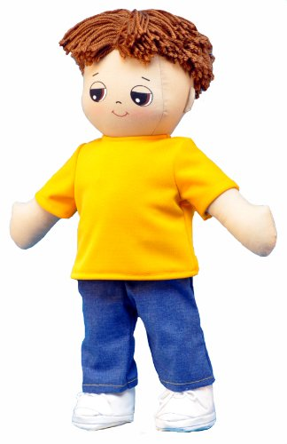 Adorable Kinders Yellow T-shirt and Denim Pants Ensemble
