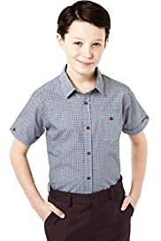 Autograph Pure Cotton Geometric Print Shirt