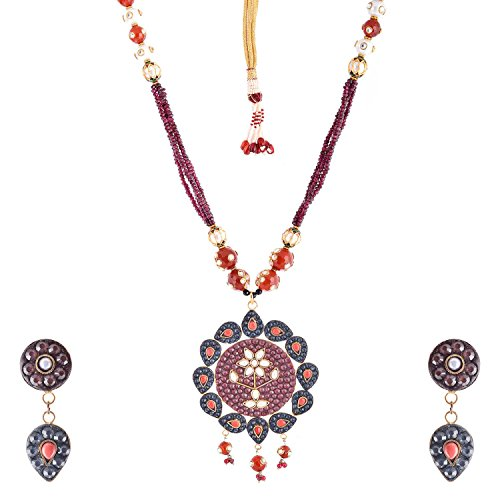 Bharat Sales Style Diva Multi Alloy Necklace Set For Women - B00YPASQ7K