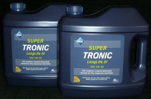 aral-super-tronic-longlife-iii-sae-5w-30-aceite-de-motor-5w30-2x4-litros