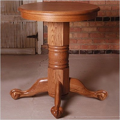 "Oak 36"" H x 30"" W Straight or Turned Pub Table Finish: Medium Oak, Foot Style: Ball and Claw, Leg Style: Straight"