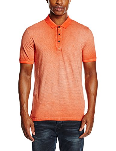 Calvin Klein Jeans - Birc-B Polo S/S, Maglietta da uomo, light grey heather / nasturtium-pt  59, LG
