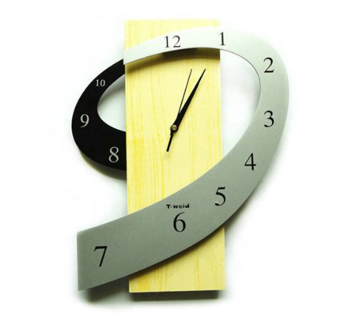 Yelllow & Grey Wall Clocks of Digital Shape Wall Clock
