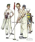 Norman Rockwell ~ 8x10 Postcard ~ Golf ~ Just Missed