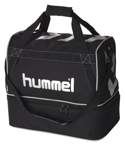 "Hummel - Borsa da calcio ""Stay Authentic"", misura L, Nero (nero), 50 x 45 x 30 cm"