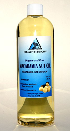 Macadamia Nut Oil Organic Carrier Cold Pressed 100% Pure 16 Oz front-892747