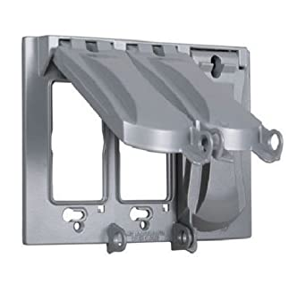 3 Gang Weatherproof Outdoor Electrical Bell Box Gray Cover Plate Triple Switc
