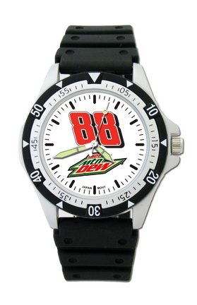 Dale Earnhardt Jr. #88 Diet Mountain Dew NASCAR Mens Option Watch by Logo Art
