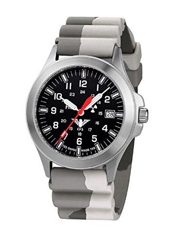 KHS Tactical relojes hombre KHS.P.DC5 acero inoxidable correa de camuflaje. Colour