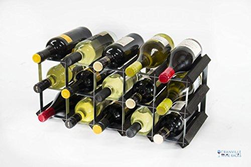 classic-15-botella-madera-tenida-de-negro-y-el-vino-de-metal-galvanizado-rack-montado
