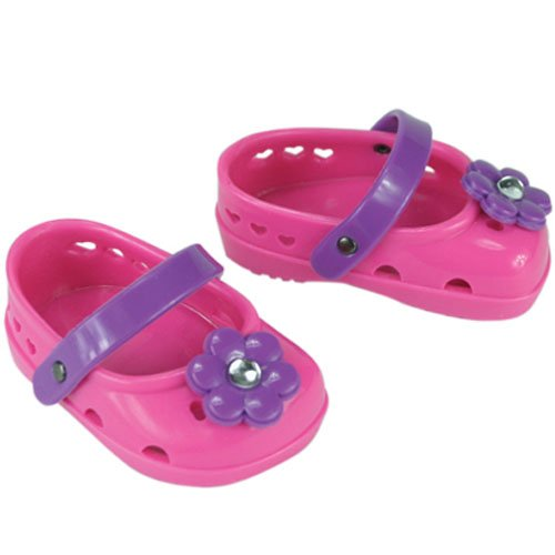 Doll Shoes/ Sandles Fits American Girl 18 Inch Dolls, Hot Pink Ballerina Doll Footwear