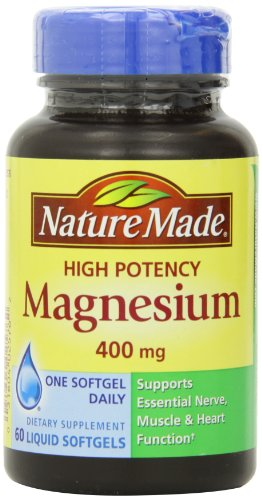 Nature Made High Potency Magnesium 400 Mg, 60-Count (Nature Made Mega compare prices)