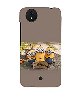 printtech Yellow Cartoon Funny Back Case Cover for Micromax Android A1 / Micromax Canvas A1 AQ4502