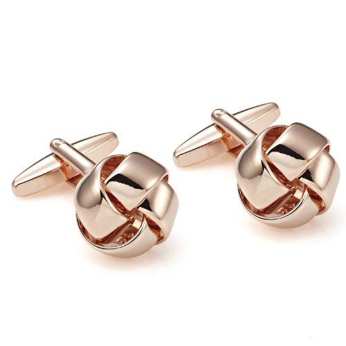 Stunning-Love-Knot-Cufflinks-for-Men-in-a-Nice-Box-Primal-Bronze
