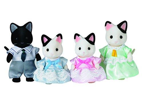 Sylvanian Families 5181 Tuxedo Katzen Familie Schwarzohr