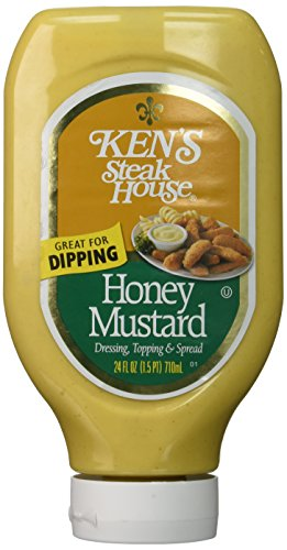 Ken's Steak House Topping and Spread with Squeezable Honey Mustard Dressing, 24 fl oz (1.5pt) 710ml