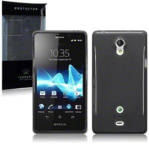 Sony Xperia T TPU Gel Skin Case / Cover - Smoke Black