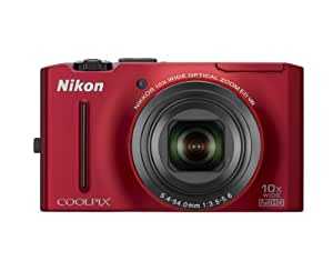 Nikon Coolpix S8100 12.1 MP CMOS Digital Camera with 10x Zoom-Nikkor ED Lens and 3.0-Inch LCD (Red)