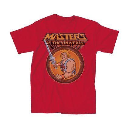 Official Masters of the Universe He-Man Classic Adult T-Shirt - Red - S to XXXL