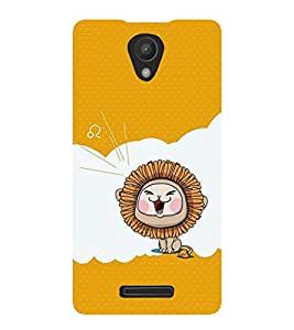 ROARING ANAIMATED LION 3D Hard Polycarbonate Designer Back Case Cover for Xiaomi Redmi Note 2 :: Xiaomi Redmi Note 2 (2nd Gen) :: Redmi Note 2 Pro