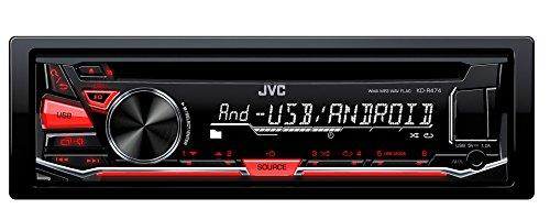 JVC KD-R474E Sintolettore CD/MP3/USB/AUX Frontale, Nero/Antracite