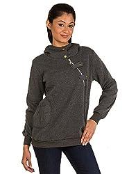 Modo Vivendi | Womens Winter Jacket | Sports Jacket Hooded | Sweatshirt Hoodies | Women Sport Suit Pullovers (Grey, XX-Large)