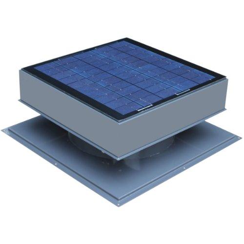 Solar Attic Fan, Roof Mount 30 Watt, Gray