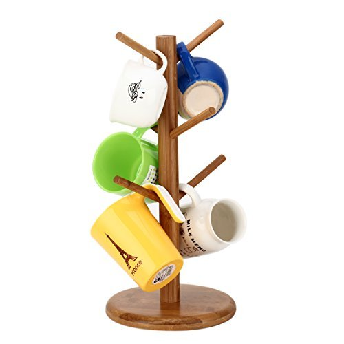 Bamboo mug tree/cup storage rack