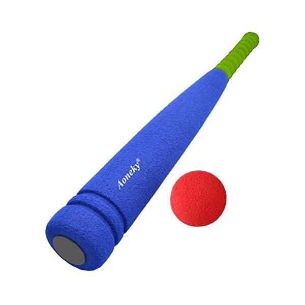 Kids Foam Baseball Bat Toys - Indoor Soft Super Safe T Ball Set for  Children Age 3 - 5 Years Old