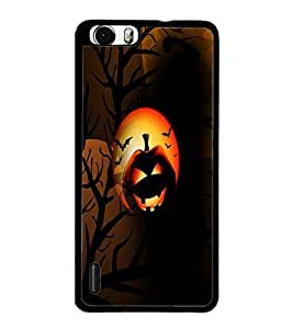 PrintDhaba Halloween D-3052 Back Case Cover for HUAWEI HONOR 6 PLUS (Multi-Coloured)