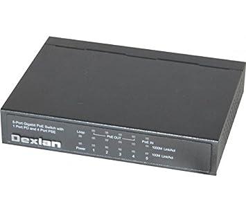 DEXLAN Dexlan Multiprise PoE- 1 entrée POE+/4 sorties PoE 70W